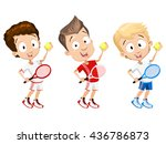 cartoon illustration of young... | Shutterstock .eps vector #436786873