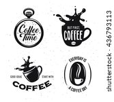 Coffee Related Quotes Set....