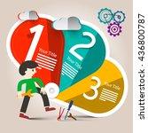 web technology infographics... | Shutterstock .eps vector #436800787