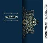 elegant greeting card design.... | Shutterstock .eps vector #436809313