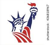 liberty american flag   Shutterstock .eps vector #436818967