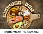 healthy fat source  salmon  oil ... | Shutterstock . vector #436826503