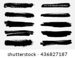 vector brush stroke.hand drawn... | Shutterstock .eps vector #436827187