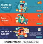 customer and technical support  ... | Shutterstock .eps vector #436833343