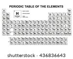 periodic table of the elements  ... | Shutterstock .eps vector #436836643