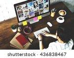 ideas creative occupation...   Shutterstock . vector #436838467