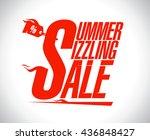summer sizzling sale...   Shutterstock .eps vector #436848427