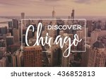 chicago downtown cityscape with ... | Shutterstock . vector #436852813