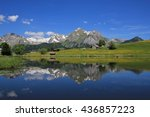 alpstein range mirroring in... | Shutterstock . vector #436857223