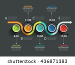 business circle timeline banner.... | Shutterstock .eps vector #436871383