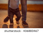 learning to walk.image of one... | Shutterstock . vector #436883467