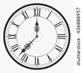 Black Wall Clock Roman Numeral...