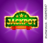 """jackpot"" banner with retro... 