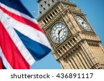 iconic british symbols   big... | Shutterstock . vector #436891117