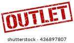 outlet stamp.stamp.sign.outlet. | Shutterstock .eps vector #436897807