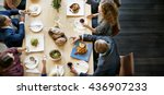 business people lunch... | Shutterstock . vector #436907233