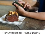 toffee cake | Shutterstock . vector #436910047