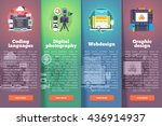 information technology banners... | Shutterstock .eps vector #436914937