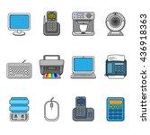 set of various office equipment ...   Shutterstock .eps vector #436918363