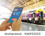 a digital wallet to pay for... | Shutterstock . vector #436925323