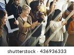 team teamwork meeting success... | Shutterstock . vector #436936333