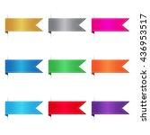 full color ribbon set | Shutterstock .eps vector #436953517