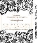vintage delicate invitation... | Shutterstock . vector #436967497