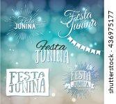 festa junina. traditional... | Shutterstock .eps vector #436975177