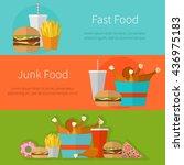 fast food banner design concept.... | Shutterstock .eps vector #436975183