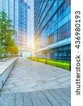 empty cement floor and modern... | Shutterstock . vector #436980193