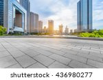 empty cement floor and modern... | Shutterstock . vector #436980277