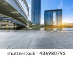 empty tiled floor and urban... | Shutterstock . vector #436980793