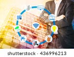 smart building and internet of... | Shutterstock . vector #436996213