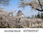 sakura and tsurukejo | Shutterstock . vector #437005537
