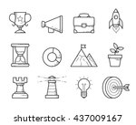 business strategy icons set     ... | Shutterstock .eps vector #437009167