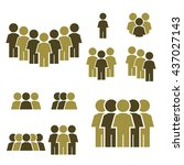 people icon set | Shutterstock .eps vector #437027143