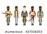 armed terrorist group terrorism ... | Shutterstock .eps vector #437036053