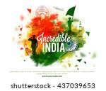 view of incredible india's... | Shutterstock .eps vector #437039653