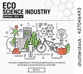 modern eco science industry.... | Shutterstock .eps vector #437046493