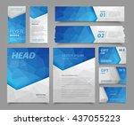 vector set of corporate... | Shutterstock .eps vector #437055223