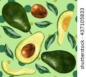 avocado. vector illustration of ... | Shutterstock .eps vector #437105833