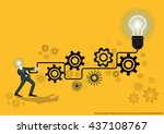 vector business for ideas and... | Shutterstock .eps vector #437108767