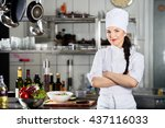 happy chef | Shutterstock . vector #437116033