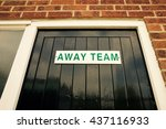 away team changing room at a uk ... | Shutterstock . vector #437116933