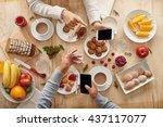 at breakfast | Shutterstock . vector #437117077