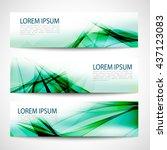 abstract header green wave... | Shutterstock .eps vector #437123083