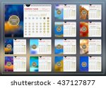 wall or desktop monthly... | Shutterstock .eps vector #437127877