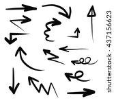 hand write arrow shape... | Shutterstock .eps vector #437156623