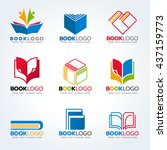 book logo for education and... | Shutterstock .eps vector #437159773