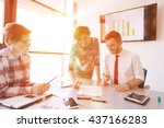 startup business young creative ... | Shutterstock . vector #437166283